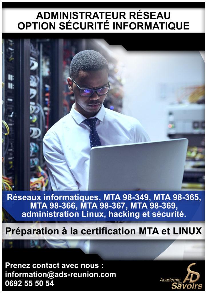 Administrateur réseau option sécurité informatique
